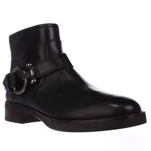Coach Eldridge Calf Harness Black Ankle Boots Boot